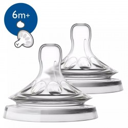 Avent Natural 4 holes Thick Feed teat (Y-cut) - 6 m+