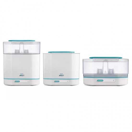 Avent 3-in-1 electric steam sterilizer with additional 2 x 260 PP bottles