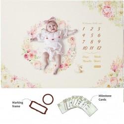 Baby Care Milestone Playmat Mat - Flower (CFEL-S08-012)