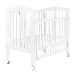 """Baby Star Huggy Foldable Baby Cot, White - 42 x 25"""""""