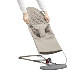Babybjorn Extra Fabric Seat for Bouncer - Sand Grey Cotton