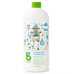 Babyganics Foaming Dish and Bottle Soap Refill 946ml - Fragrance Free