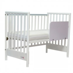 "C-Max Baby Cot (include children bed's rail) - 44 x 24 "" (White)"