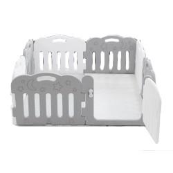 Caraz 7+1 Baby Room (Grey / white) with playmat set -  148 x 148 cm