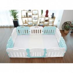 Caraz 9+1 Baby Room and Play Mat Set - Mint - 221 x 148 cm