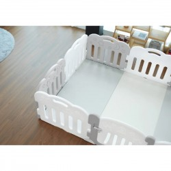 Caraz 9+1 Baby Room and Play Mat Set - Grey  - 221 x 148 cm