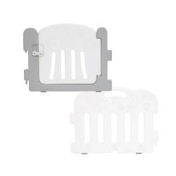 Caraz Baby Room Extension Kit (1 x Door + 1 x Panel) - Grey + White
