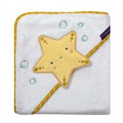 Clevamama Bambo Apron Baby Bath Towel - Star (3534)