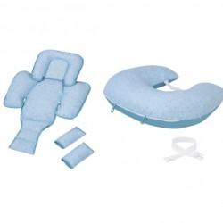 Clevamama ClevaCushion Nursing Pillow & Baby Nest - Blue (3012)