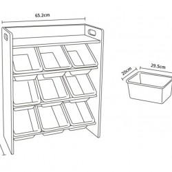 Baby Star x Delsun 9 Toy Storage Organizer with Shelf - Macaron