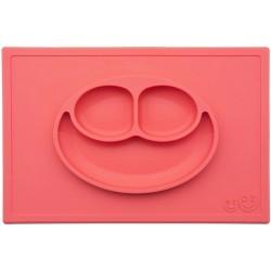 ezpz HAPPY MAT Plate & Placemat - Coral