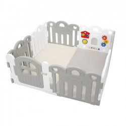 Haenim Toy Petit Baby Room and Playmat Set - Grey + White