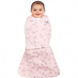 HALO SleepSack Swaddle, Cotton - Pink Butterfly (size NB)