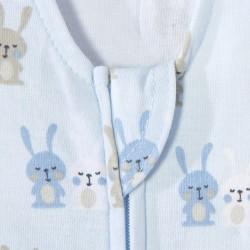 HALO SleepSack Swaddle, Cotton - Baby Blue Bunnies