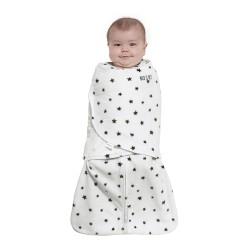 HALO SleepSack Swaddle, Micro-Fleece - Charcoal Mini Stars