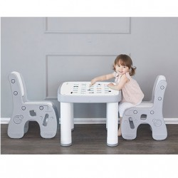 Ifam Table & Chairs Set - Grey