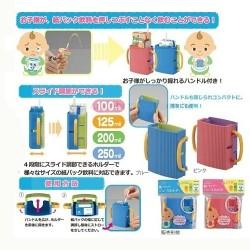 Inomata paper bag drink holder (adjustable width) - Pink