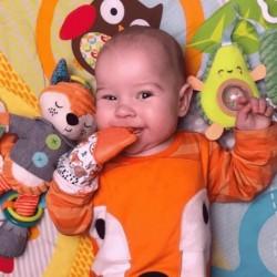 Itzy Ritzy Teething Mitten - Orange