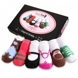 Jazzy Toes Baby Girls Socks 6 Pairs Gift Box,  0 -12 m