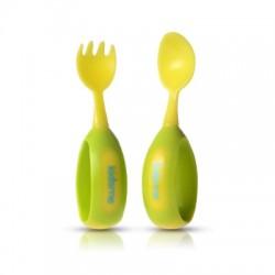 Kidsme Toddler Spoon and Fork Set - Lime