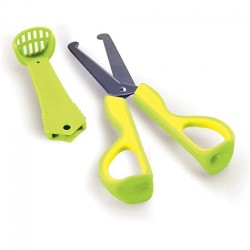 Kidsme 3-in-1 Food Scissors Lime