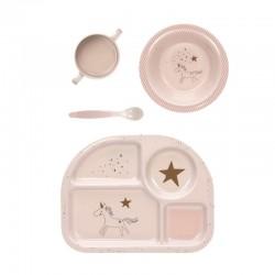 Lassig Children Tableware Set - Pink Horse (1310011794)