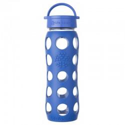 Lifefactory 22oz Glass Bottle with Classic Cap - Cobalt