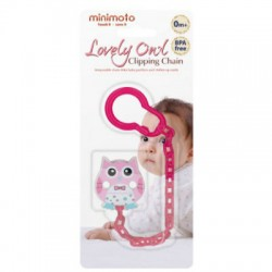 Minimoto Loverly Owl Clipping chain - Pink