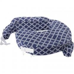 My Brest Friend Original Nursing Pillow - Blue Square (440)