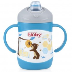 Nuby Clik-it™ Soft Spout Stainless Steel Cup 220 ml - Bear