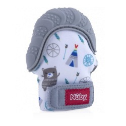 Nuby Happy Hands™ Teething Mitten - Comanche Track Bear