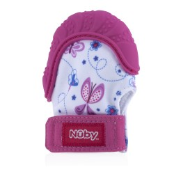 Nuby Happy Hands™ Teething Mitten - Pink