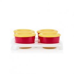 Nuby Garden Fresh Freezer Pots - Red/Yellow