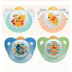 Nuk Orthodontic Latex soothers 0-6 m - Winnie the Pooh