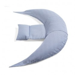 Nuvita DreamWizard 12 in 1 Pregnancy And Breastfeeding Pillow - White and Blue