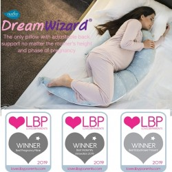 Nuvita DreamWizard 10 in 1 Pregnancy And Breastfeeding Pillow - Pink Flower