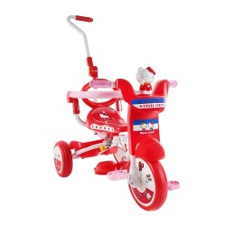 Hello Kitty Foldable Tricycle with Push Bar & Guard