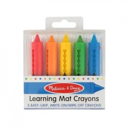 Melissa & Doug Learning Mat Crayons