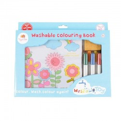 Tiger Tribe Washable colouring book - Garden