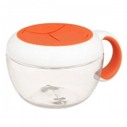 OXO tot Flippy Snack Cup with Travel Cover - Orange