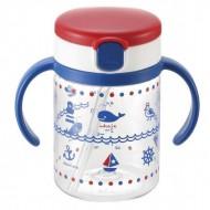 Richell aquela straw bottle mug - Blue (200 ml)