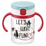 Richell aquela straw bottle mug - Let's Have Fun (200 ml)