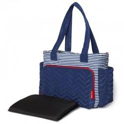 Skip Hop Five Star Mommy Bag Tote - Nautical Stripe