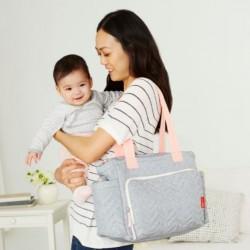 Skip Hop Five Star Mommy Bag Tote - Dove Grey