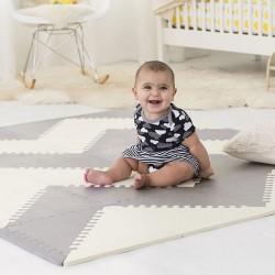 Skip Hop Geo Playspot Foam Floor Tiles - Grey / Cream