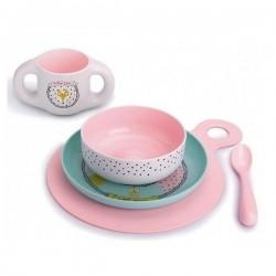 Suavinex Toddler Feeding Set - Pink