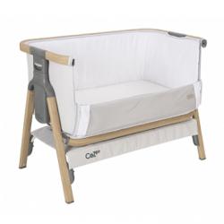 Tutti Bambini CoZee Bedside Crib - OAK / SILVER