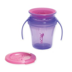 WOW Baby Translucent Spill Free Training Cup - Purple