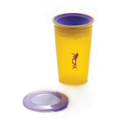 WOW Cup for Kids Translucent Spill Free Tumblers - Yellow