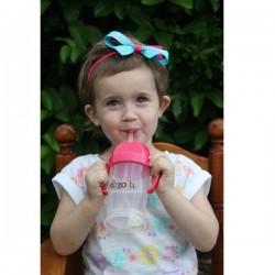 Zoli Bot Straw Sippy Cup ( 9 oz) - Pink